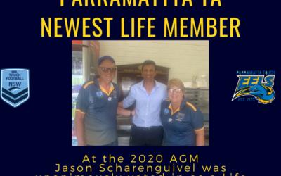 Parramattta TA newest Life member – Jason Scharenguivel