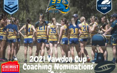 2021 Vawdon Cup Coaching Nomination Open