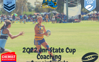 2022 Jnr State Cup Coaching Appointments